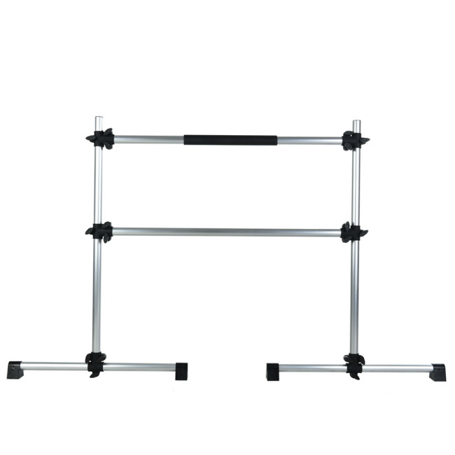 BNcompany Non-Slip Portable Training Barre for Adult and Kids Aluminium 5FT Freestanding Double Ballet Barre Bar