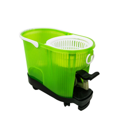 Plastic bucket lock and lock floor cleaning mop 360 cleaning mop