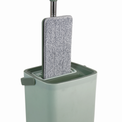 Household 360 Free Hand Squeeze Flat Mop With Bucket