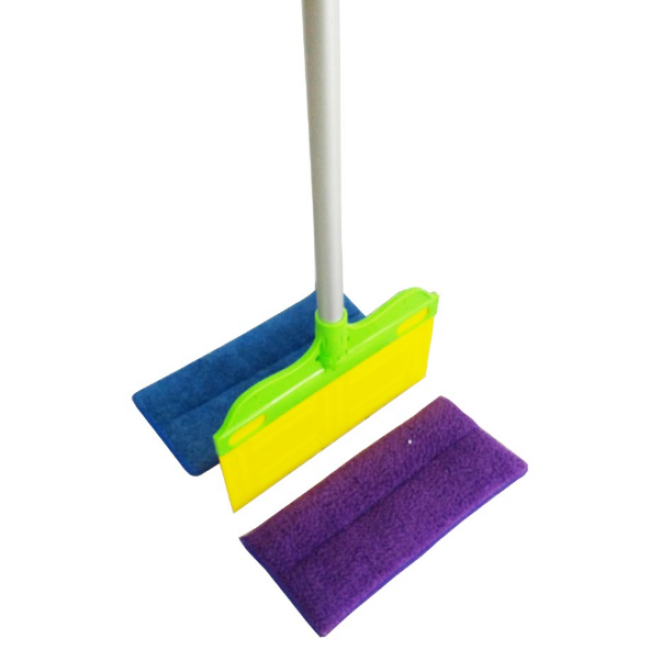 2 IN 1 Sponge Mop Head Clean and Dry Dusters Mops for Floor