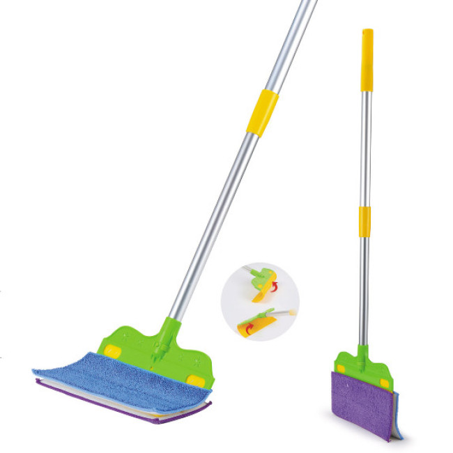 Household Cleaning Solution Long Handle Microfiber Floor Mop Broom Holder