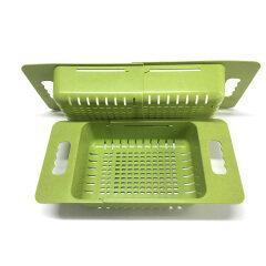 Foldable Kitchen Vegetable Fruit Mesh Drain Strainer Basket