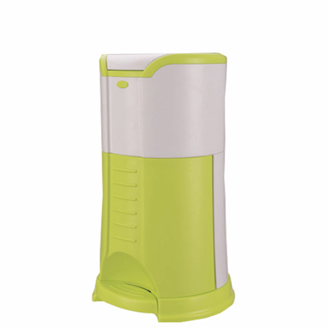 Eco-friendly Pedal Type Plastic Pail 22L Hands-Free Snap Nappy Bin