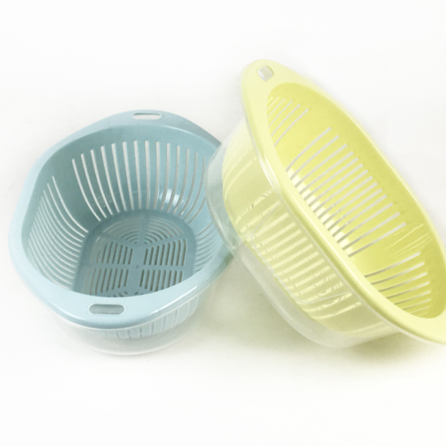 Plastic Kitchen 3 in 1 dish fruit vegetable Washing Storage Basket