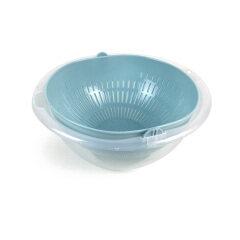 Multi-purpose Plastic Colander Fruit Vegetable Cleaning Washing Drainer Kitchen Rotatable Draining Basket