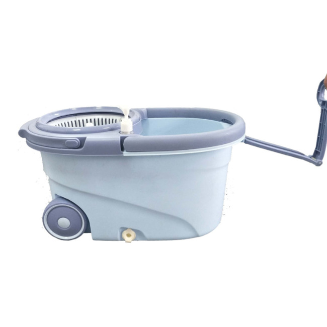 BNcompany High Capacity Plastic Bucket with Wheels and Removable Wringer Basket Mop