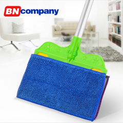 Telescopic Handle Dirt Cleaner Spin Broom Cleaning Mop Brush