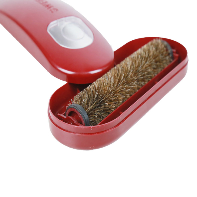 ABS plastic and horse hair made material pet massage lint cleaning brush