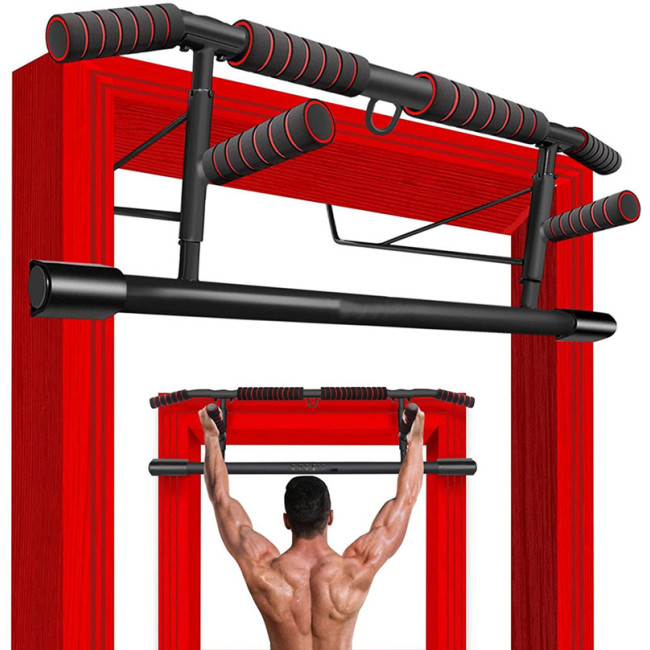 CNcompany Pull Up Bar Handles Doorframe Pull-up Bar Home and Travel Doorway Gym Chin Up Push Up Bar Stands Handles