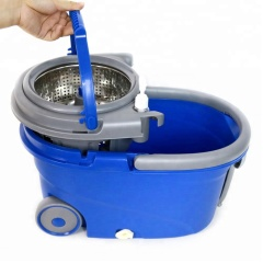 Spin Hand Pressed Mop Bucket with Wheels and 360 degree cleaning mop