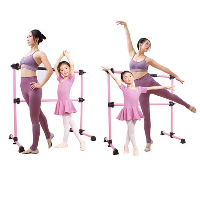 BNcompany Freestanding Portable Adjustable Ballet Barre Dance Stretch Fitness Bar Double Bar 2021 HOT SELL