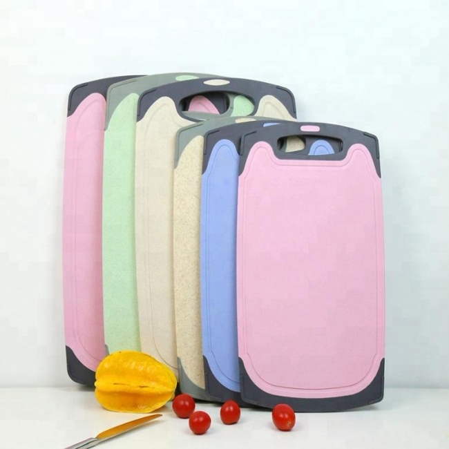 Top Quality Antibacterial Wheat Straw Lap Kitchen Cutting Board