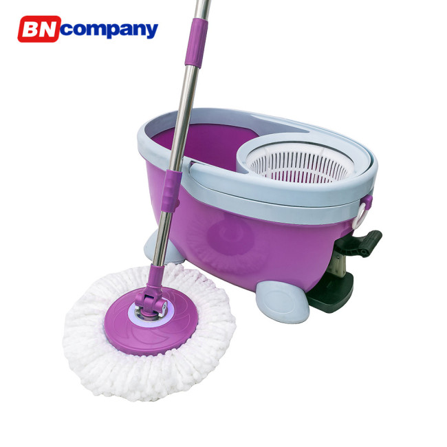 Four Functions Rotating Mop Bucket with Foot Pedal