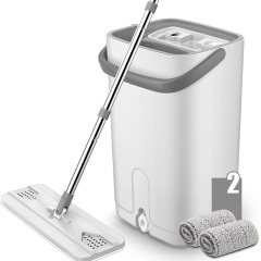 Mini size microfibre household cleaning flat floor mop and bucket set
