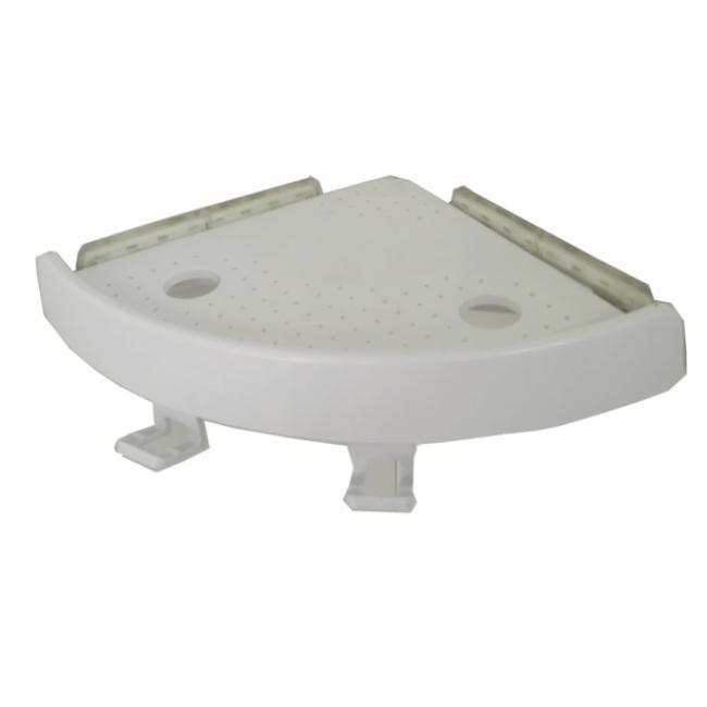 Inter Design Suction Bathroom Corner Shelf Shower Caddy for Conditioner Soap