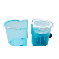 Easy Magic Floor Mop 360 Degree Bucket 2 Heads Microfiber Spinning Rotating Mop and Bucket