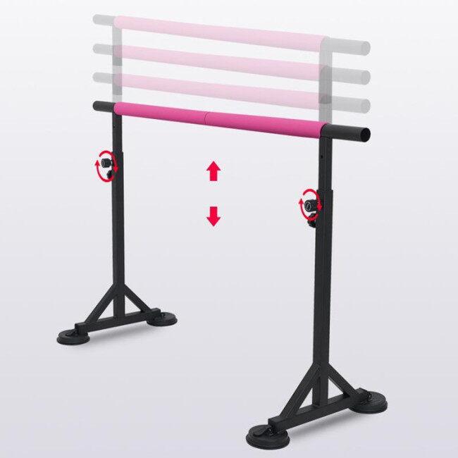 BNcompany Horizontal Bar Gymnastics Ballet Bar Adjustable Height Kids Gymnastics Bar