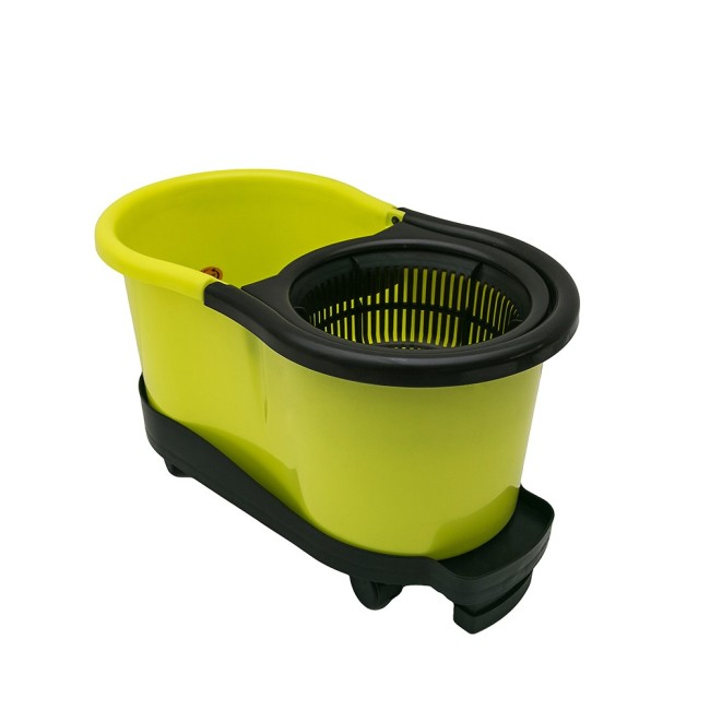 Hand Press Rotating 360 Mop Bucket Set With Bucket Dolly