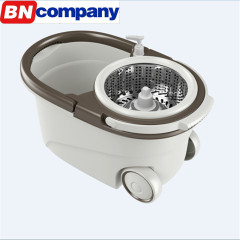 Magic Mop with Removeable Wringer Basket Floor Mop Stick Cleaning Bucket Mop