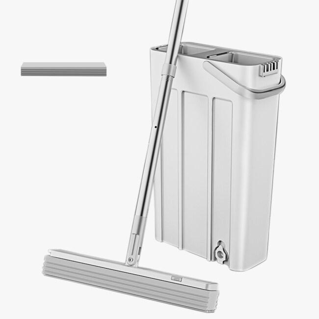 Quick clean Sponge lazy squeeze pva flat mop mini Mop with Bucket
