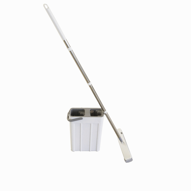 PVA washing easy use self-washed magic flat sponge mop bucket with stainless steel stick