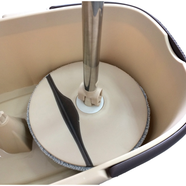 Plastic folding plate cleaning  corners mop with bucket set