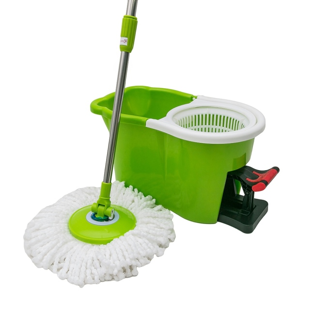 Home Easy Floor Rotating Mop Washing Pedal Cleaning Bucket