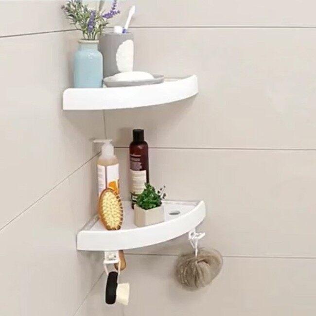 Easy Attachable Magic Corner Shower Shelf