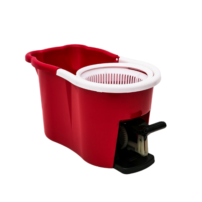 Home Plastic Bucket With Pedal 360 Spin Floor Mop