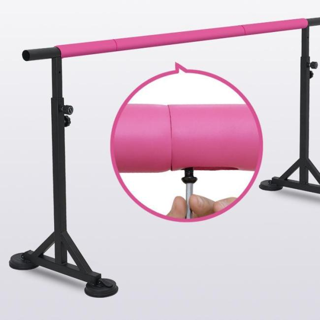 BNcompany powder coated gymnastic portable ballet barre dance height adjustable bar for home club training training