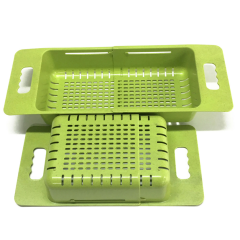 Kitchenware Plastic Telescopic Washing Sink Drain Basket