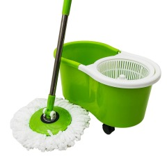 Rolling Wringer Spin 360 Plastic Mop Bucket with Wringer, Swivel Mop and Bucket