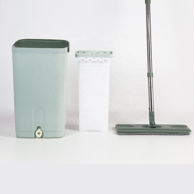 Bncompany Good price cleaning lazy squeeze flat mop with bucket