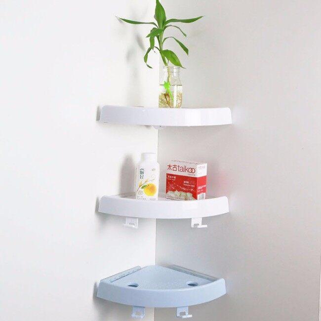 Bathroom Shelf Corner Storage Holder With Bath Accessories Hooks/toilet corner shelf