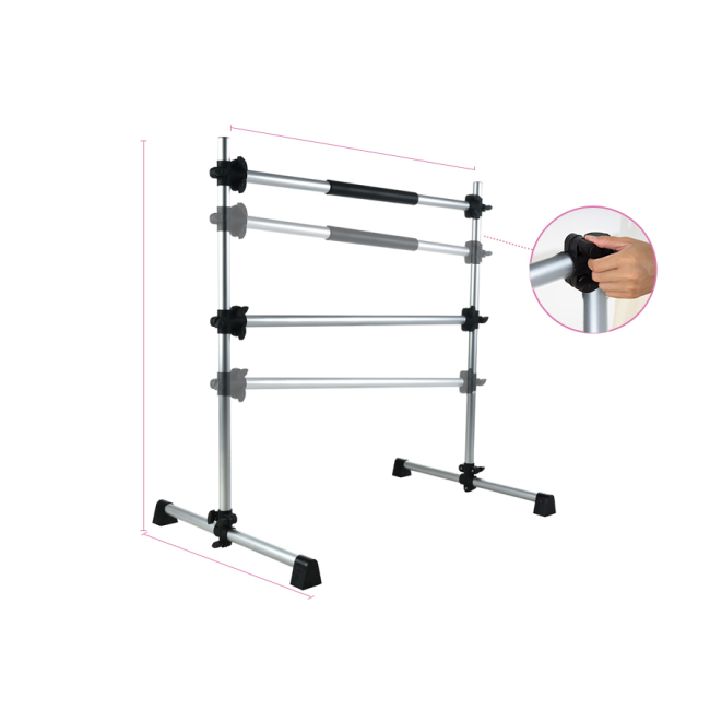 BNcompany Portable Double Freestanding ballet barre height,ballet barre standard mounted 38mm