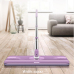 Assembly extra long handle plate wet and dry dust control microfiber flat mop