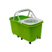 Twin Bucket Folding Spin Mop with 8 Wheels Long Drag Handle Detergent Bottle and Whater Out Let for Floor Cleaning