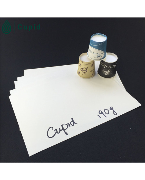 190gsm high quality pe coated paper in sheet
