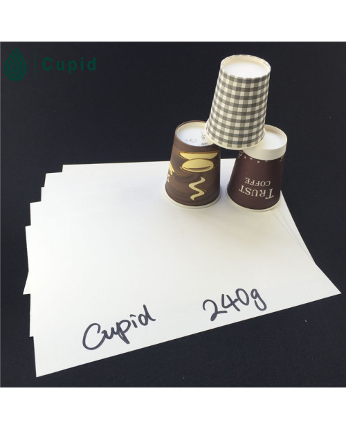 240gsm  Paper cup material PE coated in sheet