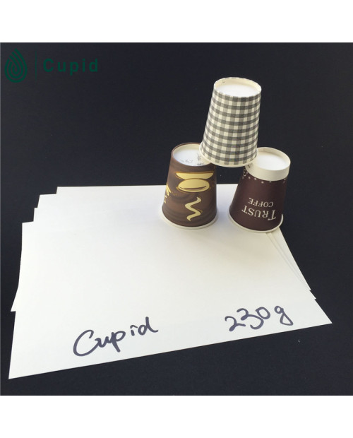 230 gsm Hot Drink Disposable Pe Coated Paper In Sheet On Discount