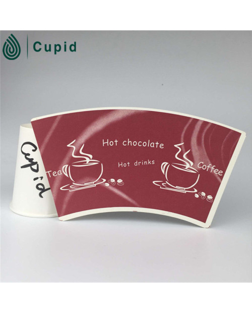 Disposable Reasonable Price Green Paper Cup Fans