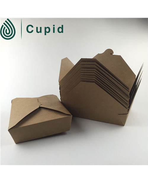 disposable kraft salad packaging box wholesale
