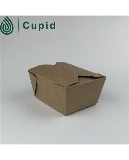Simple white paper noodle box design for packaging