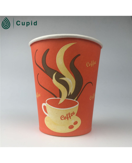 Cold drink paper cup made of double side pe coated paper