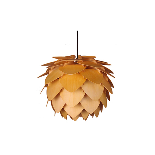Pineapple wood decorative pendant lamp