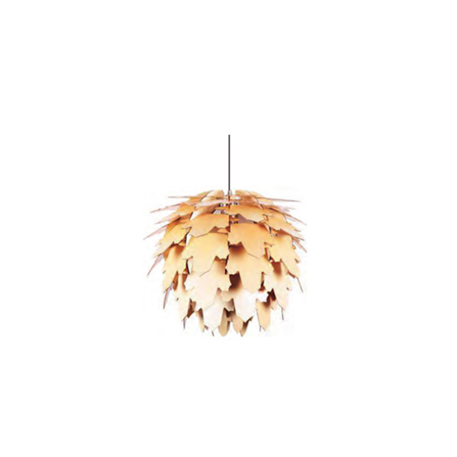 Maple leaves decorative wood pendant lamp