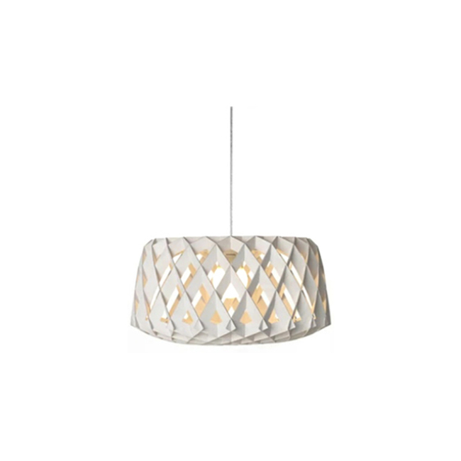 Cage decorative wood pendant lamp