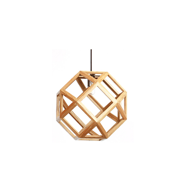 Geometry decorative wooden lighting