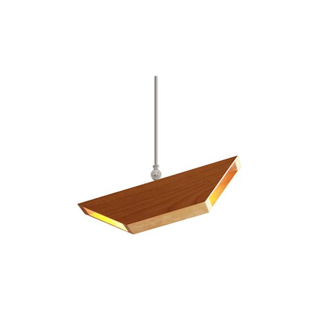 Pipe wood pendant lamp