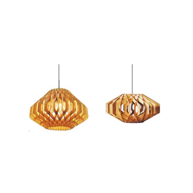 Decorative wood pendant lamp